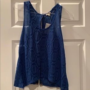 Lily White Open Back Blouse Size M